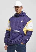 Starter Black Label Jacket Starter Color Block Half Zip Retro Jacket Starter Purple/White/Buff Yellow