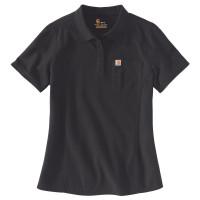 Carhartt Damen T-Shirt Short Sleeve Polo Navy