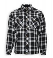 Bores Lumberjack Jacken-Hemd in Holzfäller Optik Black/White