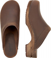 Sanita Offener Clog Wood-Christian Open Antique Brown