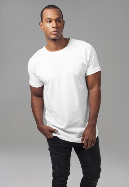 Urban Classics T-Shirt Long Shaped Turnup Tee White