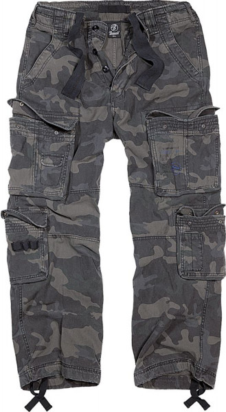Brandit Hose Pure Vintage Trouser in Darkcamo