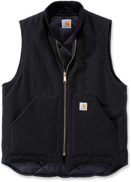 Carhartt Weste Duck Vest Arctic Quilt Lined Black