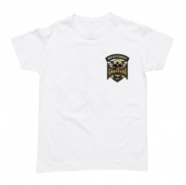 WCC West Coast Choppers T-Shirt Hipster Hunters Solid White
