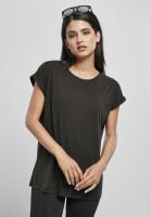 Urban Classics Damen T-Shirt Ladies Modal Extended Shoulder Tee Black
