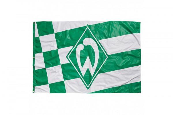 SV Werder Bremen Hissfahne kl. Raute Fussball 1. Bundesliga Green
