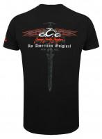 OCC Orange County Choppers T-Shirt Horizontal Flame Black
