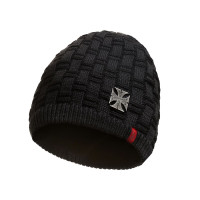 WCC West Coast Choppers Beanie Metal Patch Black