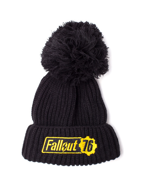 Fallout Beanies Fallout - Fallout 76 Logo Bobble Beanie Black