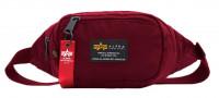 Alpha Industries Tasche Crew Waist Bag Burgundy