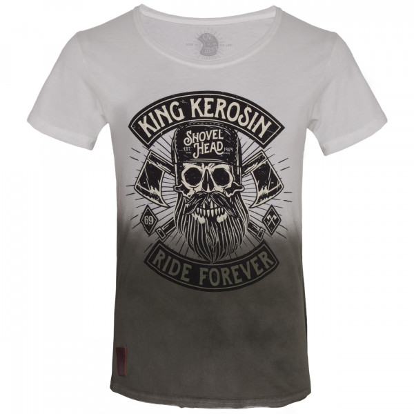 King Kerosin T-Shirt Lumberjack Dip Dye White Olive