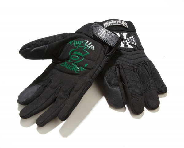 WCC West Coast Choppers Biker Handschuhe schwarz-XL