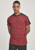 Southpole T-Shirt Shoulder Panel Tech Tee Marled Red