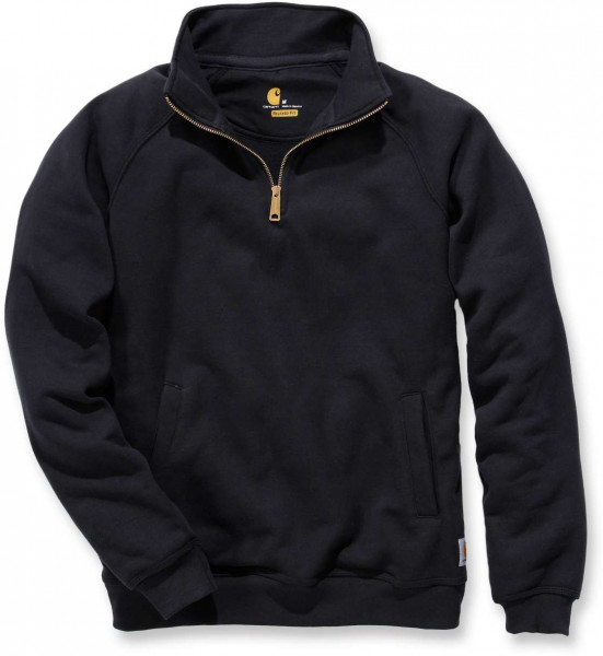 Carhartt Sweatshirt Midweight Quarter Zip Mock Neck Sweatshirt Black