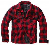 Brandit Jacke Lumberjacket in Red/Black