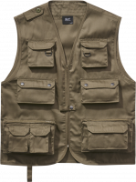 Brandit Weste Hunting Vest in Olive