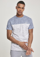 Southpole T-Shirt Color Block Tech Tee Marled White
