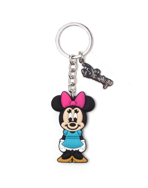 Mickey Mouse Keychains Disney - Minnie Mouse Rubber Keychain Multicolor