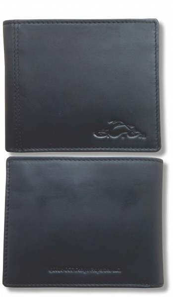 OCC Orange County Choppers Wallet Leather with debossed Logo Black
