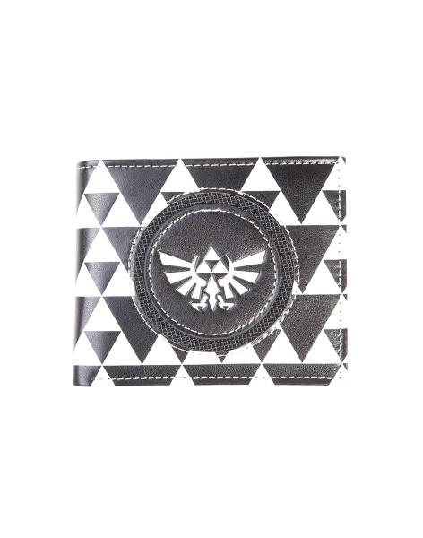 Nintendo - Zelda Black & White Men's Bifold Wallet Multicolor