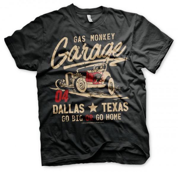 Gas Monkey Garage T-Shirt Go Big Or Go Home Black