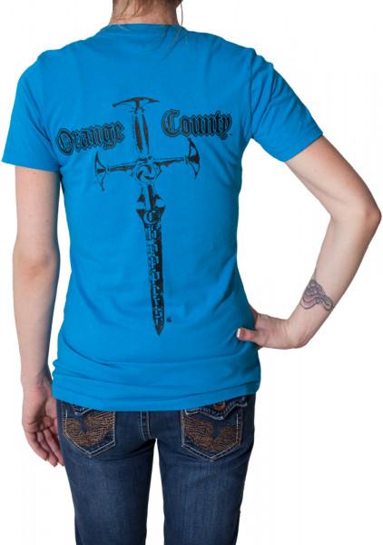 OCC Orange County Choppers Female Shirt Classic Sword Blue