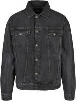 Urban Classics Jacke Oversized Denim Jacket Black Stone Washed