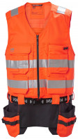 Helly Hansen Weste Alna 2.0 Construction Vest Orange/Ebony