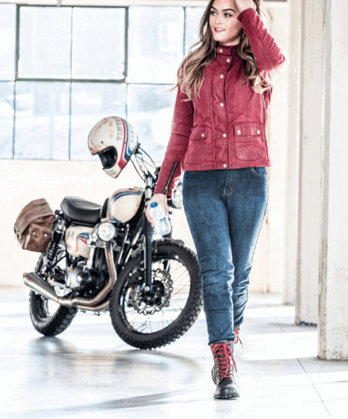 Grand Canyon Motorrad Hose Hornet Jeans Damen Blue