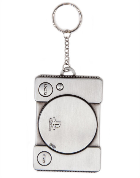 Playstation Keychain Console Metal 3D Silver