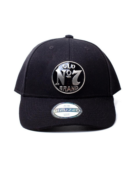Jack Daniel's - No. 7 Logo Metal Badge Adjustable Cap Black