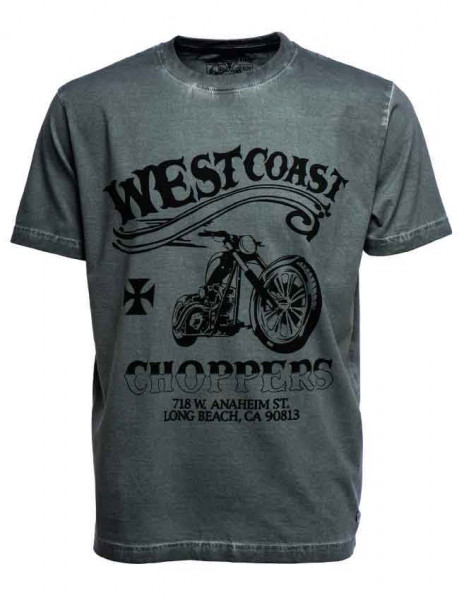 WCC West Coast Choppers T-Shirt Divide and Conquer Black