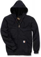 Carhartt Sweatshirt Midweight Hooded Zip Front Sweatshirt Black