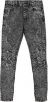 Cayler & Sons Trousers Paneled Denim Pants Acid Washed Distressed Black