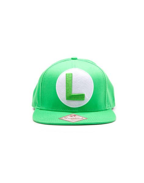 Super Mario Cap Green Snapback with Luigi Logo Green