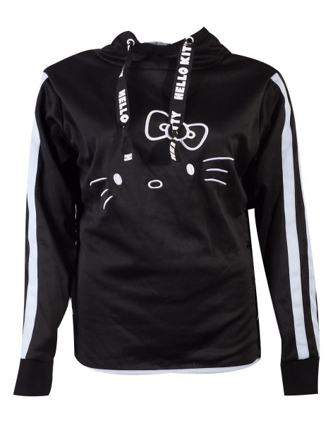 Hello Kitty - Side Buttons Hello Kitty Women's Hoodie Black