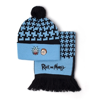 Rick and Morty Gift Sets Rick and Morty - Beanie & Scarf Giftset Multicolor