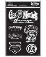 Gas Monkey Garage Sticker GMG A4 Sticker Set A