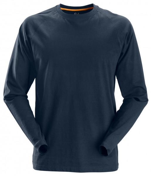 Snickers AllroundWork langarm Baumwoll-Shirt Navy