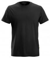Snickers Klassisches Baumwoll T-Shirt Schwarz