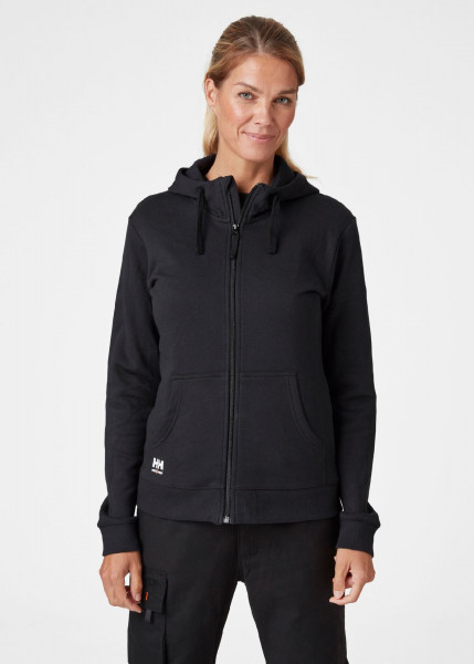 Helly Hansen Female Hoodie / Sweatshirt 79217 W Manchester Zip Hoodie 990 Black