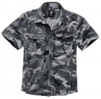 Brandit Vintage Shirt shortsleeve grey camo