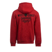 WCC West Coast Choppers Hoodie Motorcycle Co. Zip Hoody Red