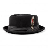 Brixton Hat Stout Pork Pie Black