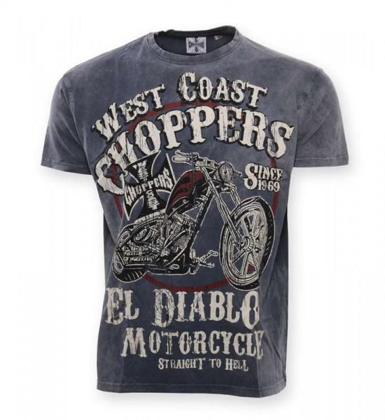 WCC West Coast Choppers T-Shirt El Diablo Blue