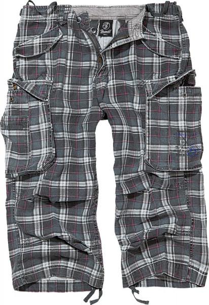 Brandit Shorts Industry Vintage 3/4 in Darkgrey/Purple