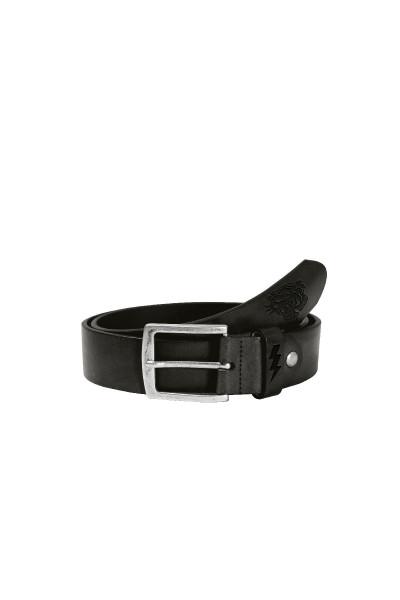 John Doe Gürtel John Doe Leather Belt Logo Black