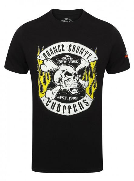 OCC Orange County Choppers T-Shirt Skull Rocker Black