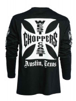 WCC West Coast Choppers Longsleeve Original Cross Black
