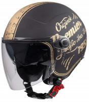Premier Jethelm Rocker Double Visor O4 19 BM Black/Gold Matt